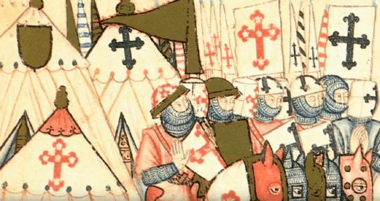 La Cruz de Calatrava original en las pinturas de la Cantiga 205 a Santa María junto a la Orden de Santiago y su cruz original
