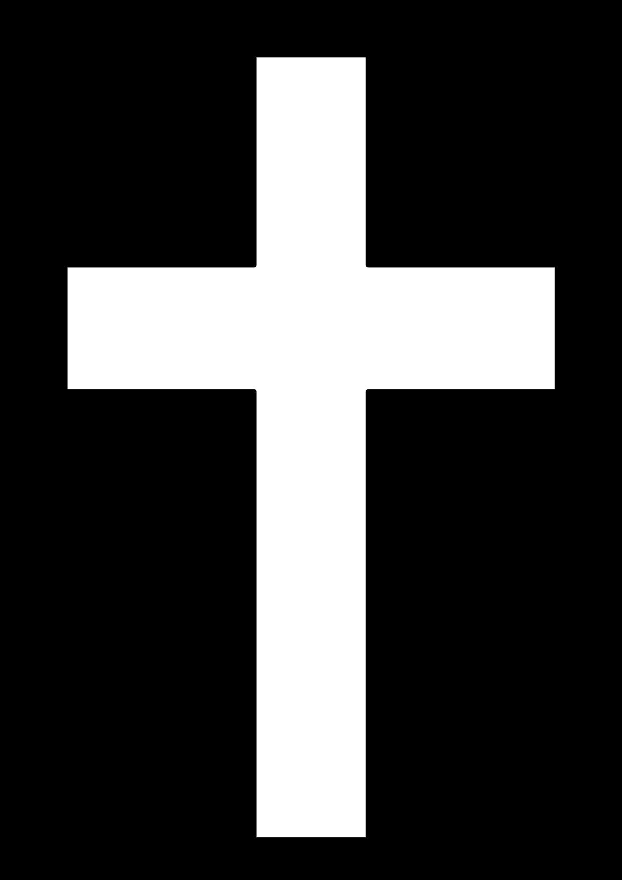 Cruz cristiana para colorear también conocida como cruz latina