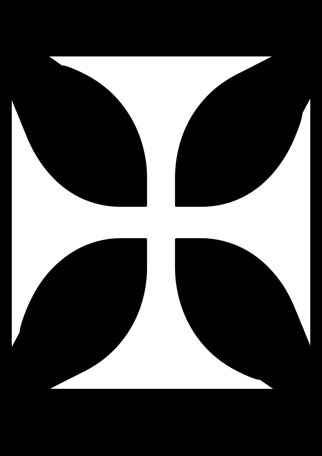 Una cruz medieval para colorear también conocida como patada