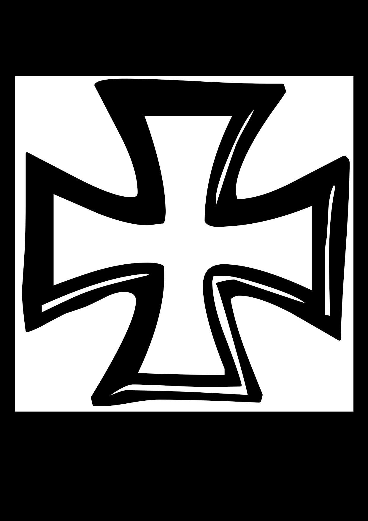 Una cruz templaria de la Orden del Temple para colorear
