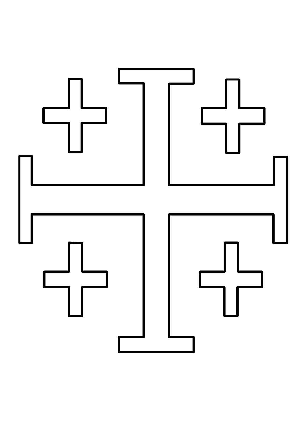 Cruz de Jerusalén para colorear