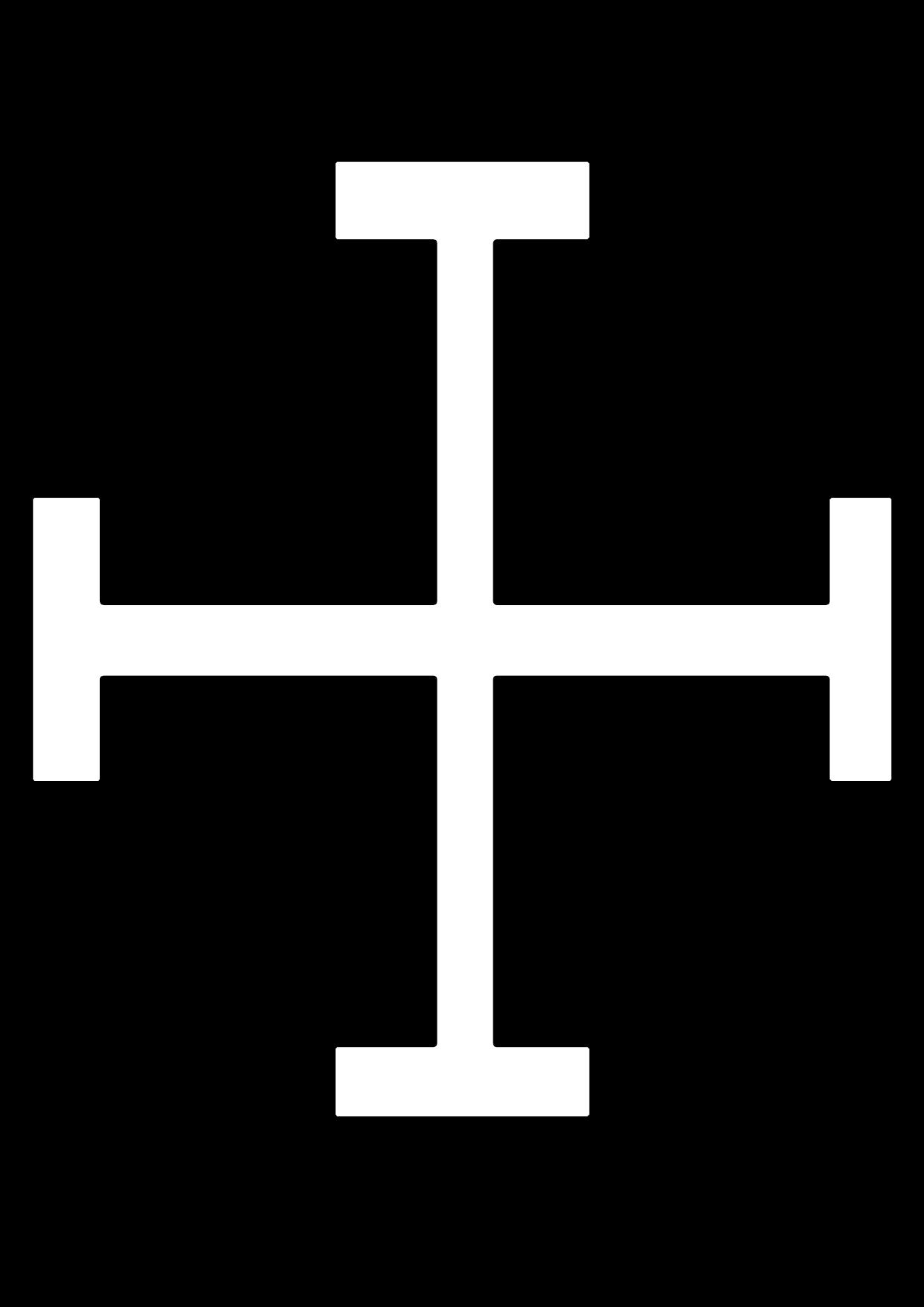 Cruz Potenzada para imprimir y colorear