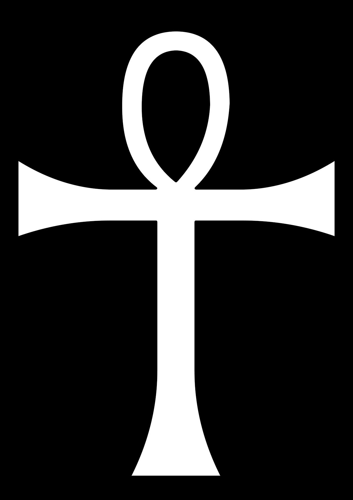 Cruz egipcia para colorear también conocida como cruz ansada o llave de la vida