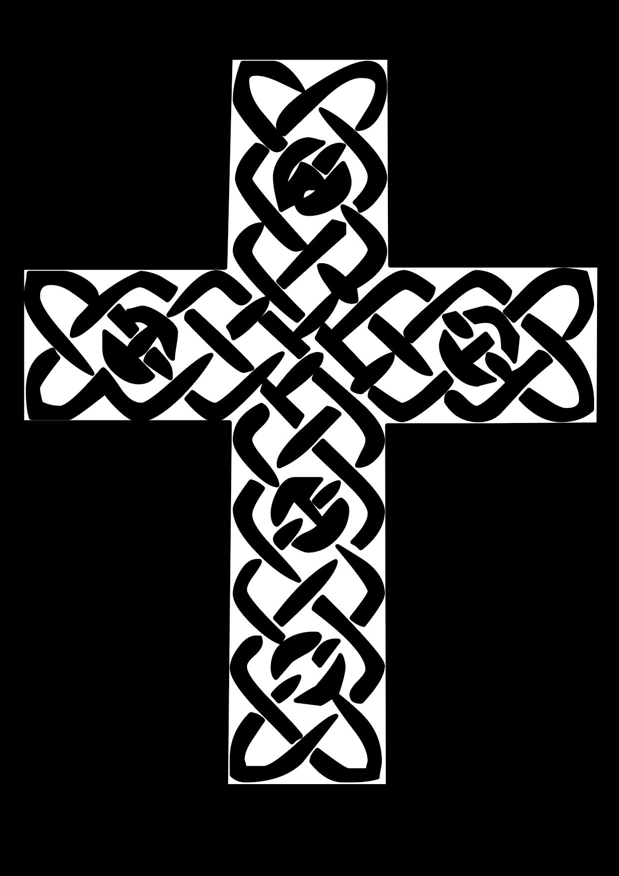 Imagen de la cruz latina para colorear