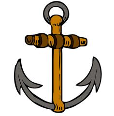 Una cruz cristiana dentro de un ancla de forma disimulada Crux dissimulata