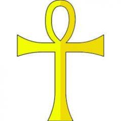 Cruz Egipcia conocida como Anhk de oro